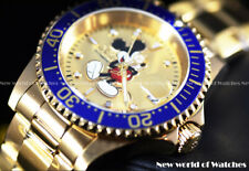 Invicta Men 40mm Disney Limited Ed Pro Diver Blue Gold Micky Mouse Auto Watch