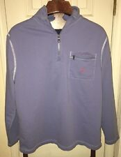 NAUTICA Sail Logo Part Zip Cotton Pullover Spring  Weight Jacket_Blue_ Mens LG