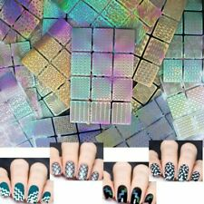 12 Tips/Sheet Nail Art Manicure Stencil Stickers Nails Stamping Dec Vinyl N8B2