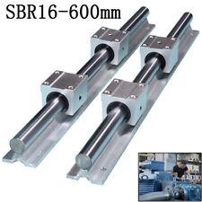 Sbr16 600mm 16mm Linear Slide Guide Shaft 2 Rail4 Sbr16uu Bearing Block Cnc Set