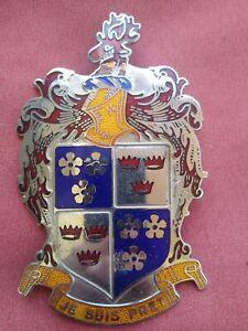 1947 1948 1949 1950 Frazer Emblem JE SUIS PRET - good enamel Kaiser-Frazer