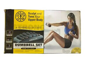 NEW Gold's Gym Dumbell Set, 6-Pieces, 32LBs Total, FAST FREE Shipping