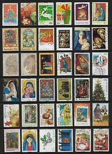 AUSTRALIA mixed Christmas collection No.29, decimal, all different, used