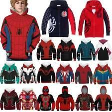 Kids Boys Girls Spiderman Superhero Hoodie Sweatshirt Coat Tops Pullover Jumper
