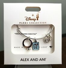 Disney Mickey Mouse ''Love'' and Ring Bangle By Alex and Ani (NEW)