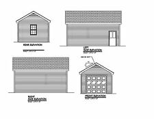 24x14 -1 CAR GARAGE PLAN - GABLE ROOF - 24x14 GARAGE 14X24 PLAN #17-1424GBL-1