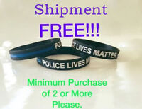 Thin Blue Line Bracelet Police lives Matter Silicone Police Support Wristband