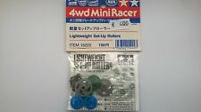 TAMIYA ACCESSORI MINI 4WD ROTELLE LEGGERE PLASTICA LIGHTWEIGHT SET UP ROLLERS