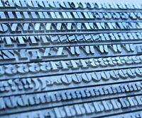 28p FETTE BAUERSCHE ANTIQUA Bleisatz Buchdruck Handsatz Buchstaben Bleilettern