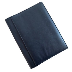 Black Premium Leather A5 Notebook/Diary Cover & free lined notebook refillable