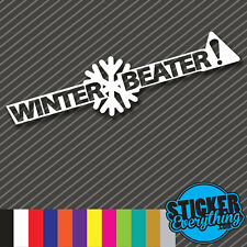WINTER BEATER STICKER VINYL DECAL JDM DRIFT SLAMMED ILLEST STANCE STATIC EURO