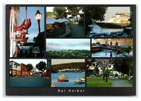 Postcard Multi-View of Bar Harbor, Maine ME downtown ships The Cat Ferry K5