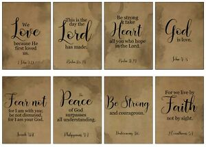 BIBLE QUOTES - GRUNGE -  2 x A4 SHEETS OF CARD TOPPERS - SCRAPBOOKING