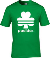 Padidas St Patrick's Irish Ireland Strappy Shamroc Men Women Unisex T-shirt 3653