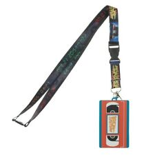 BACK TO THE FUTURE VHS VIDEO CASSETTE LANYARD RUBBER BADGE ID HOLDER KEYCHAIN