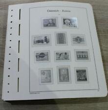 Leuchtturm Seiten für Vordruckalbum Österreich 1984-2009 SF = Glasklare Taschen