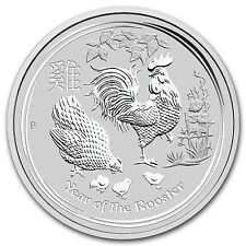 2017 Australia 10 oz Silver Lunar Rooster BU