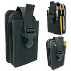 Dual Pocket Nylon Phone Holster With Adjustable Quick Release Buckle Closure.