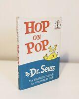 Hop on Pop First Edition 1st Printing Dr Seuss 1963 VG Book & DJ