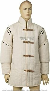 Thick Gambeson IV Coat SCA WMA Arming Jacket Medieval Padded Ecru Handmade Item