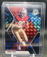 2020 Panini Mosaic Football Genesis Refractor SSP Jerry Rice 49ers card #178