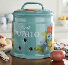 New | The Pioneer Woman | Potato Keeper Ceramic Stoneware Crock Breezy Blossoms
