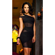Suzanjas Kleid mit transparenten Einsätzen schwarz Größe M-L 38 - 40