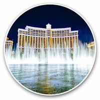 2 x Vinyl Stickers 7.5cm - Bellagio Hotel Las Vegas USA Cool Gift #3097
