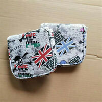 Golf Union Jack Skull Mallet Putter Head Cover Square Cover for Taylormade Cobra