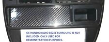 RADIO CARBON FIBER BLOCK OFF DELETE COVER PLATE for HONDA 96-98 CX DX HX LX EX