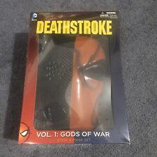 Dc Comics Deathstroke Vol.1 Gods of War Book and Mask Set (2015, Paperback) New