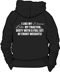 **Farming Tractor Hoody Slogan Fendt Case Claas New Holland** Women