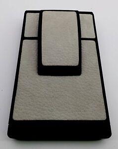 "Polaroid SX-70 Townsend ""Grey"" Pebble Grain Nubuck Leather PolaSkinz Skin SLR680"