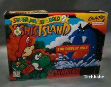 "SNES Super Mario World 2 Yoshi's Island ""DISPLAY ONLY BOX"" 1995 Rare (No Game)"