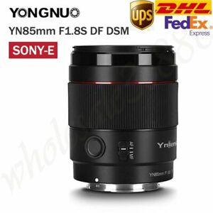 DHL YONGNUO YN85mm F1.8S DF DSM AF/MF Lens For Sony E-Mount A9 A7RII A7RII A6600