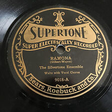 SUPERTONE  20's Victrola 78 rpm record SILVERTONE ENSEMBLE Little Log Cabin