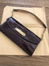 100% Authentic Louis Vuitton Sunset Boulevard Amarante Vernis Leather Clutch