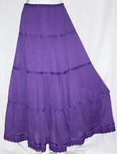 Purple Boho Renaissance Bohemian Gypsy Tribal Belly Dance Peasant Tiered Skirt