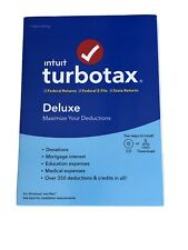 Intuit TurboTax Deluxe 2019 Federal + State - CD And Code - Ship Only (READ!)