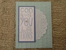 Bravo baby congratulations shower birth card kit of 10 made with Stampin' Up!