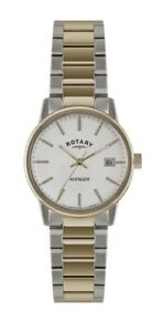 Rotary Avenger Rose Gold Steel Case Strap Men's Watch GB02875/06 RRP £189