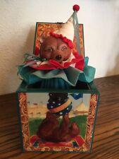 "Bear Music Box ""URSA THE GREAT"" Jack-in-the-Box, 1986 Enesco, Artist FAITH WICK"