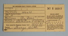 1981 Michigan Conservation Department Non Resident Daily Fishing License