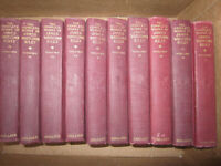 Vtg 10 vol HC book set, The Complete Works of James Whitcomb Riley 1916 Memorial