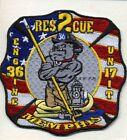 """Memphis  Engine - 36 / Rescue-2 / Unit - 17, TN (4"""" x 4"""" size) fire patch"""