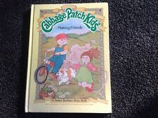 """Cabbage Patch Kids """"Making Friends"""" Vintage 1984 beautiful Parker brothers story"""