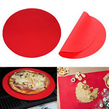 """11.8"""" Silicone Round Baking Mat Oven Microwave Cake Cookie Pastry Tray Sheet"""
