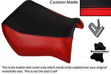 BLACK & BRIGHT RED CUSTOM FITS YAMAHA MT 03 06-13 FRONT LEATHER SEAT COVER
