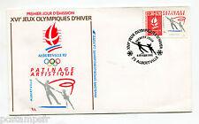FRANCE FDC premier jour, JEUX OLYMPIQUES ALBERTVILLE, PATINAGE, timbre 2633