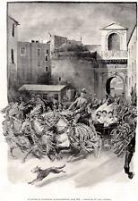 NAPOLI: RITORNO DAL PELLEGRINAGGIO DI MONTEVERGINE.PASSEPARTOUT.CERTIFICATO.1898